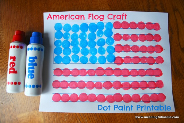 7 Images of Dot Paint Printables 4th Of July