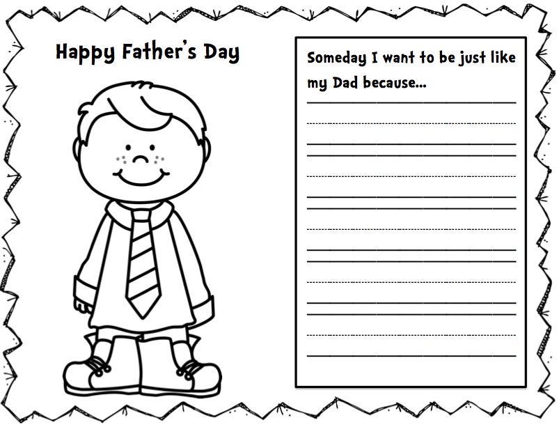This is an image of Free Printable Fathers Day Cards to Color in coloring