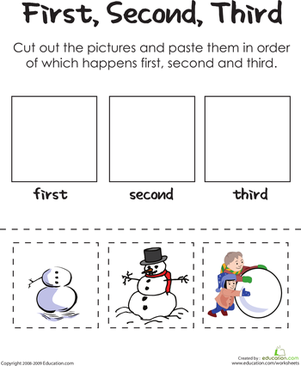 Worksheets Sequencing Worksheets Free 6 best images of snowman sequencing worksheet printable free first second third worksheets