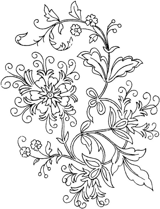 6 Images of Free Printable Adult Coloring Pages Flower