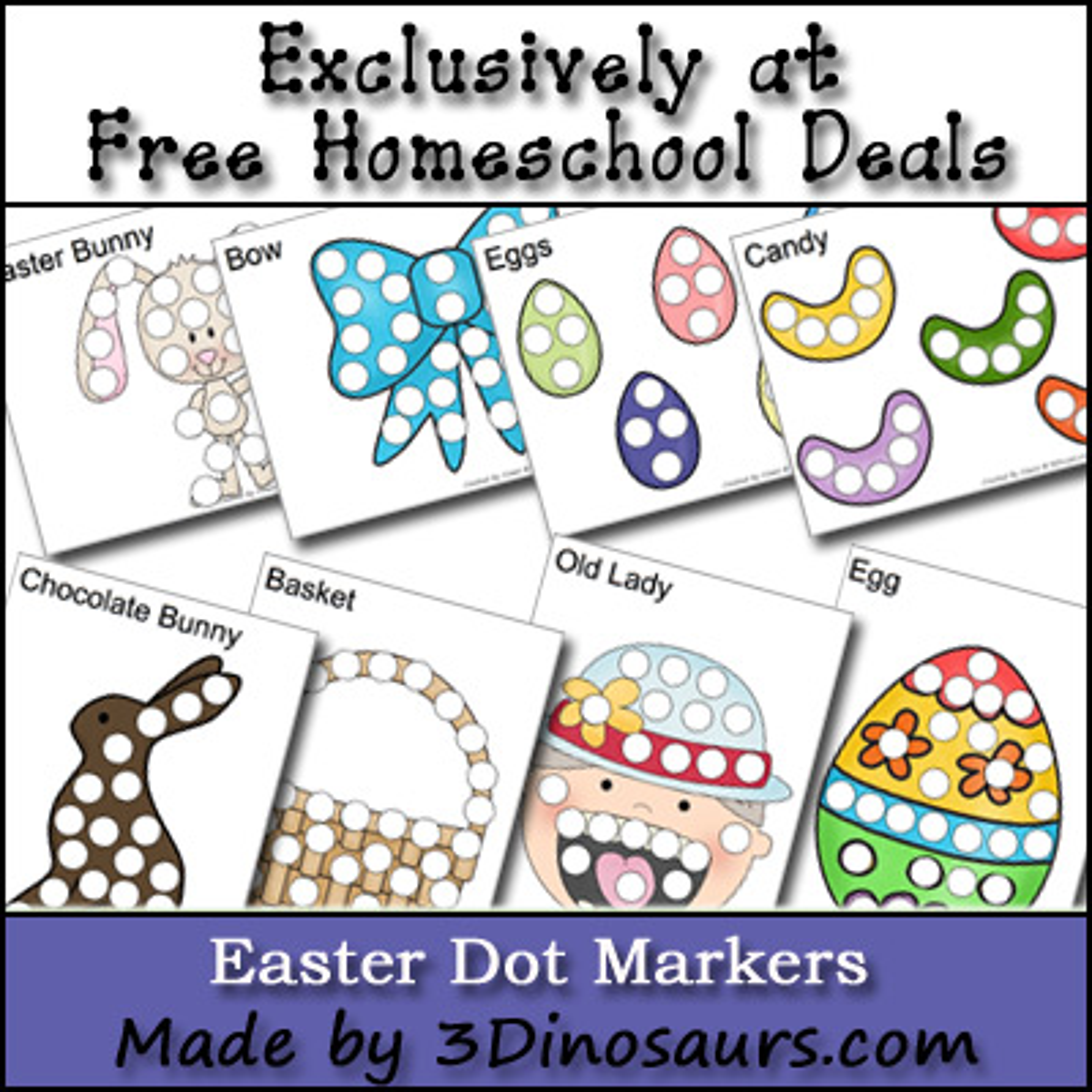 Free Easter Dot Marker Printables
