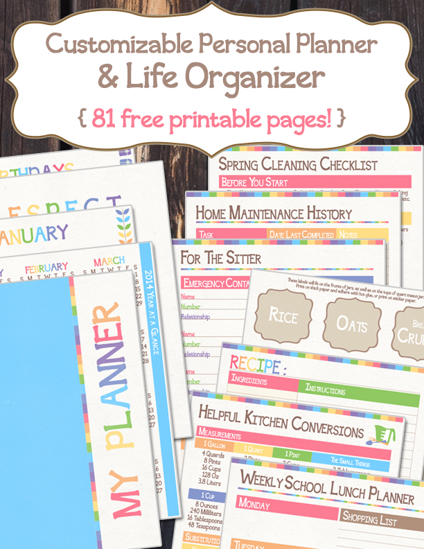 Free Personal Planner Printables