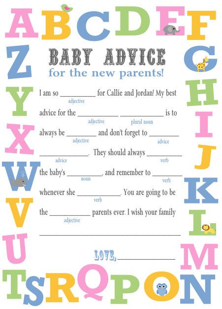 8 Images of Printable Baby Shower Mad Libs Game