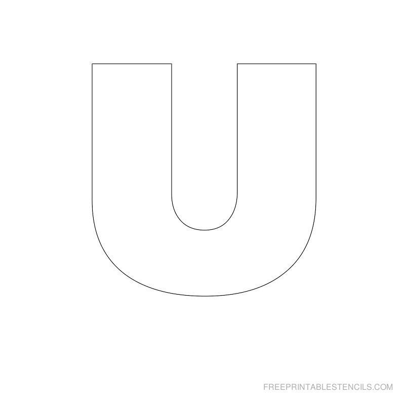 5 Images of Large Printable Letter U