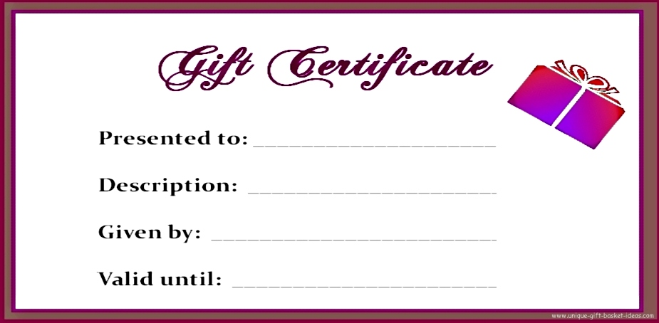 free downloadable gift certificate templates - 7 best images of free printable gift certificate forms
