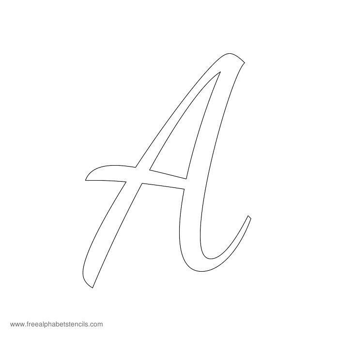 8 Images of Cursive Letter Stencils Free Printable