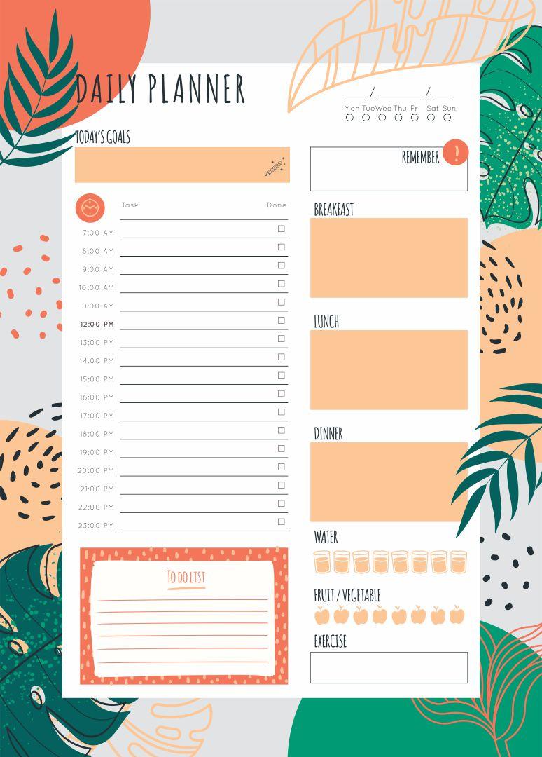 Printable Daily Planner PDF