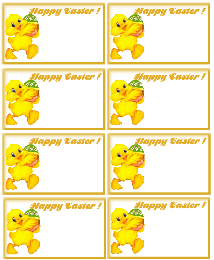 4 Images of Printable Easter Gift Tags