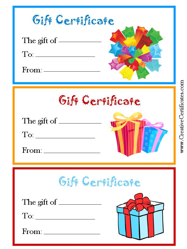 7 best images of free printable gift certificate forms for Holiday gift certificate template free printable