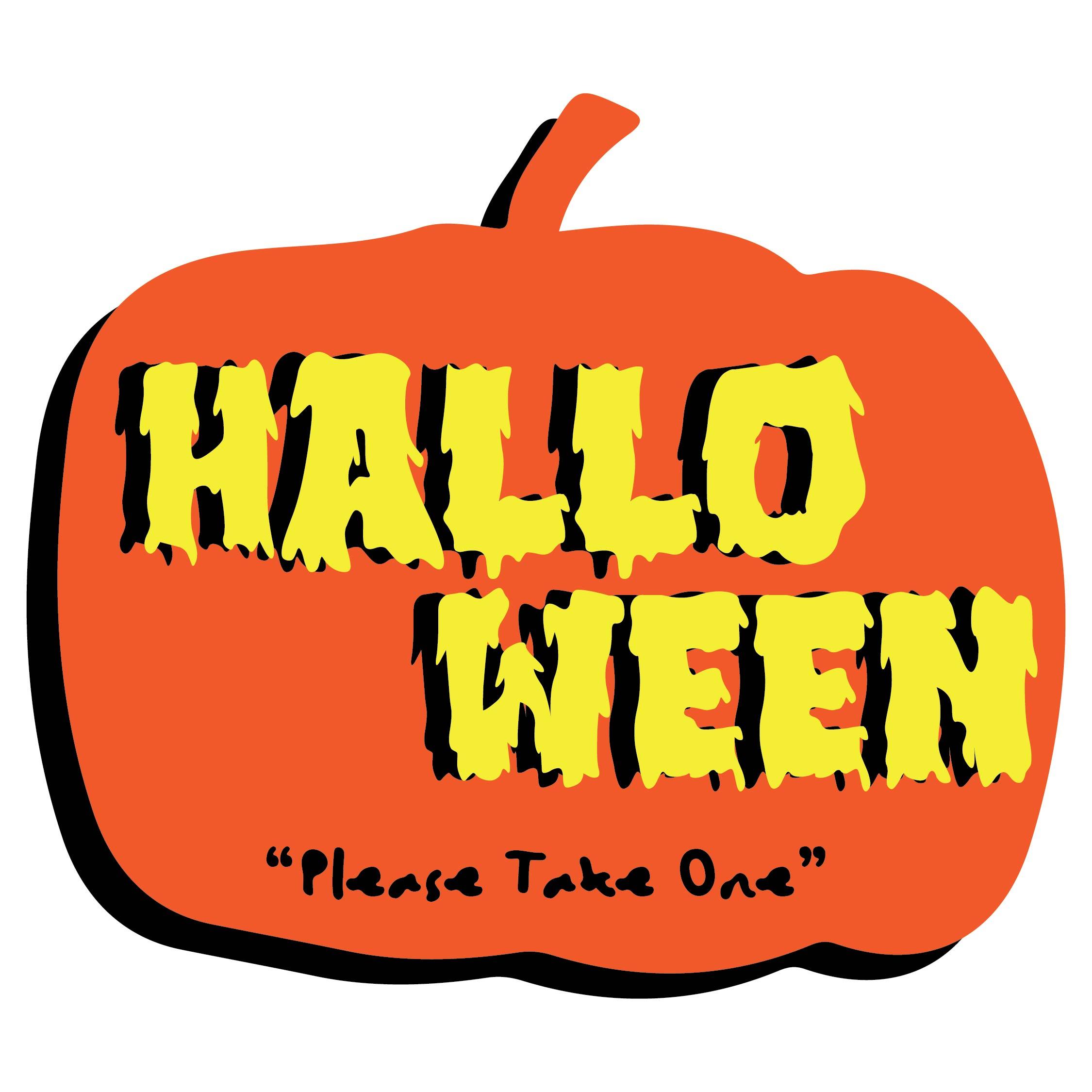 Printable Halloween Please Take One Sign