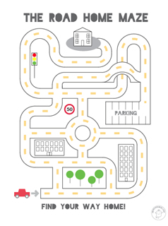 9 Images of Road Printable For Kindergarten