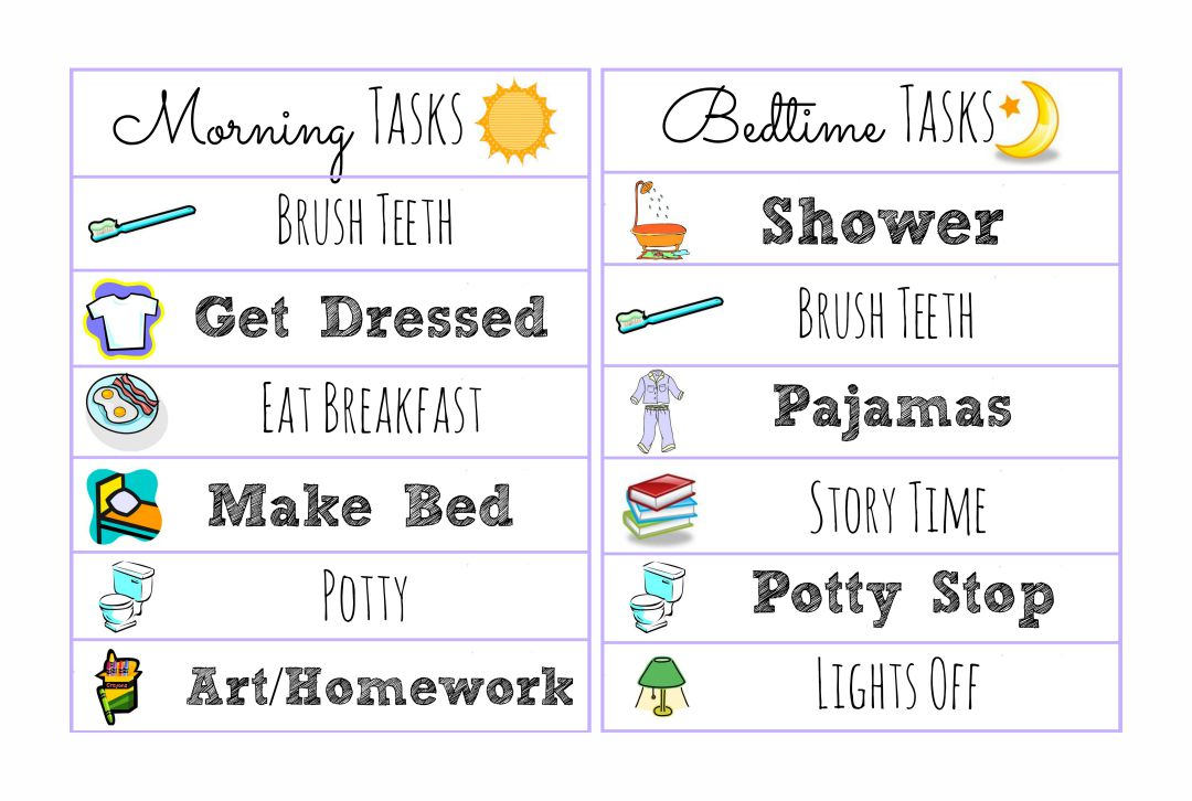 Printable Kids Morning Schedule