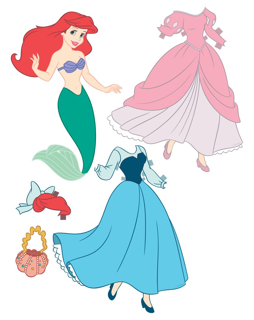 Printable Mermaid Paper Dolls