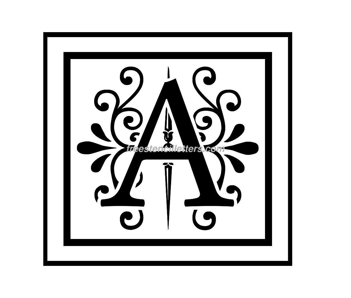 8 Images of Monogram Letter H Printable Stencils