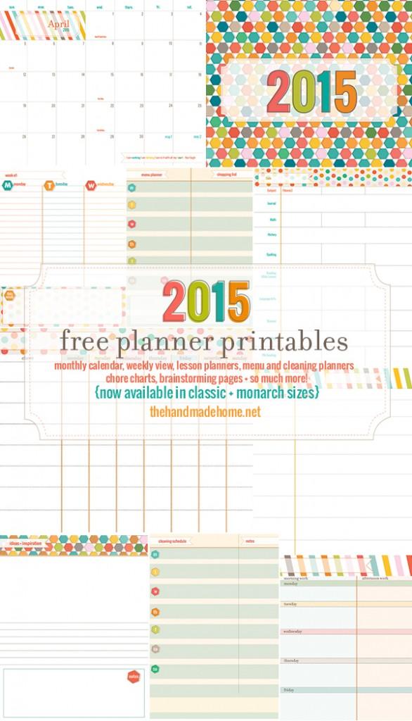 8 Images of Cute Free Printable 2015 Weekly Planner