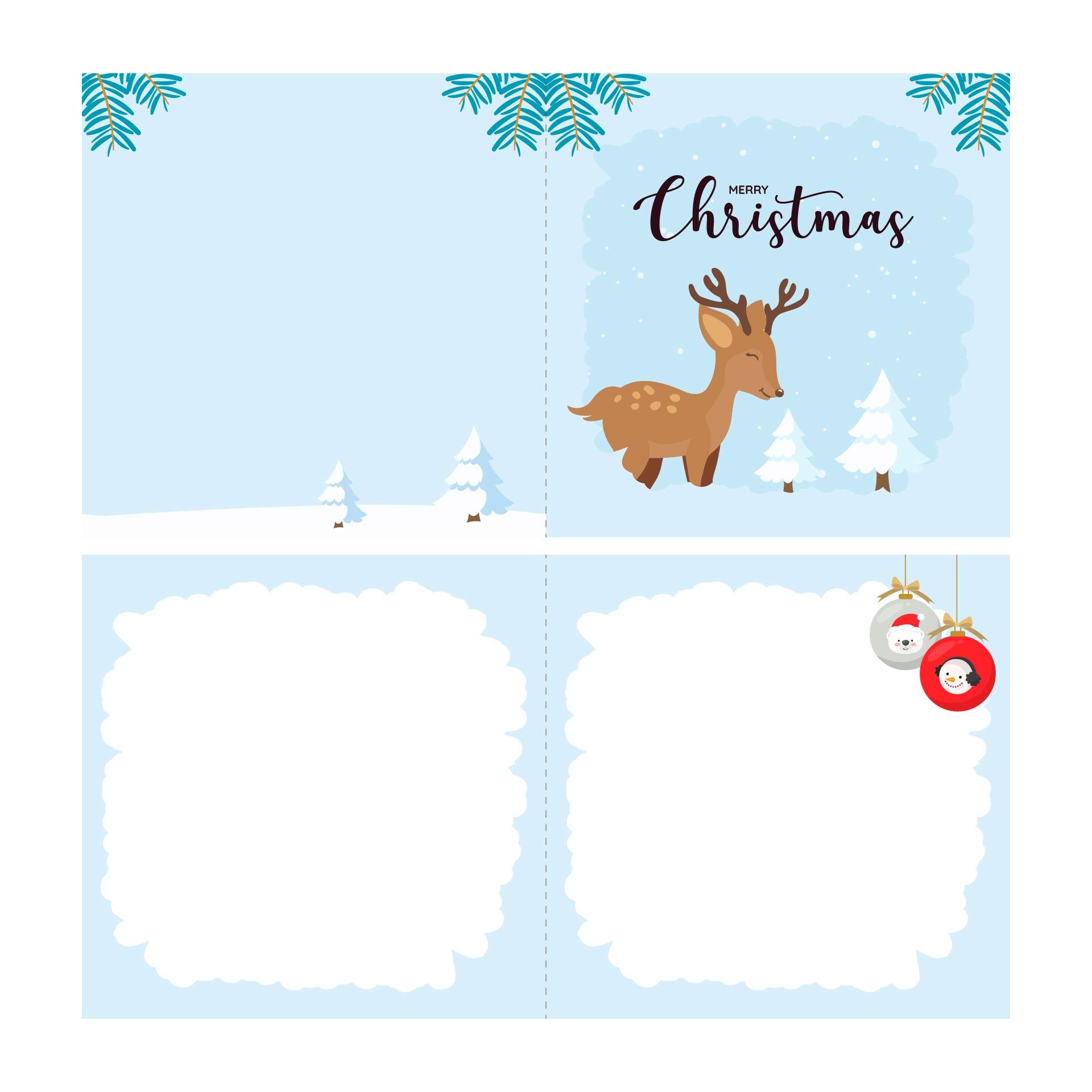 5 Images of Free Printable Reindeer Card