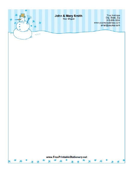 5 Images of Lauren Printable Stationary
