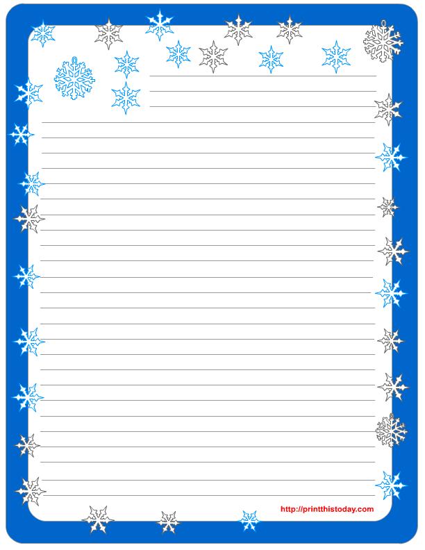 Free Printable Stationary Borders Snowflake, Free Printable Snowflake ...