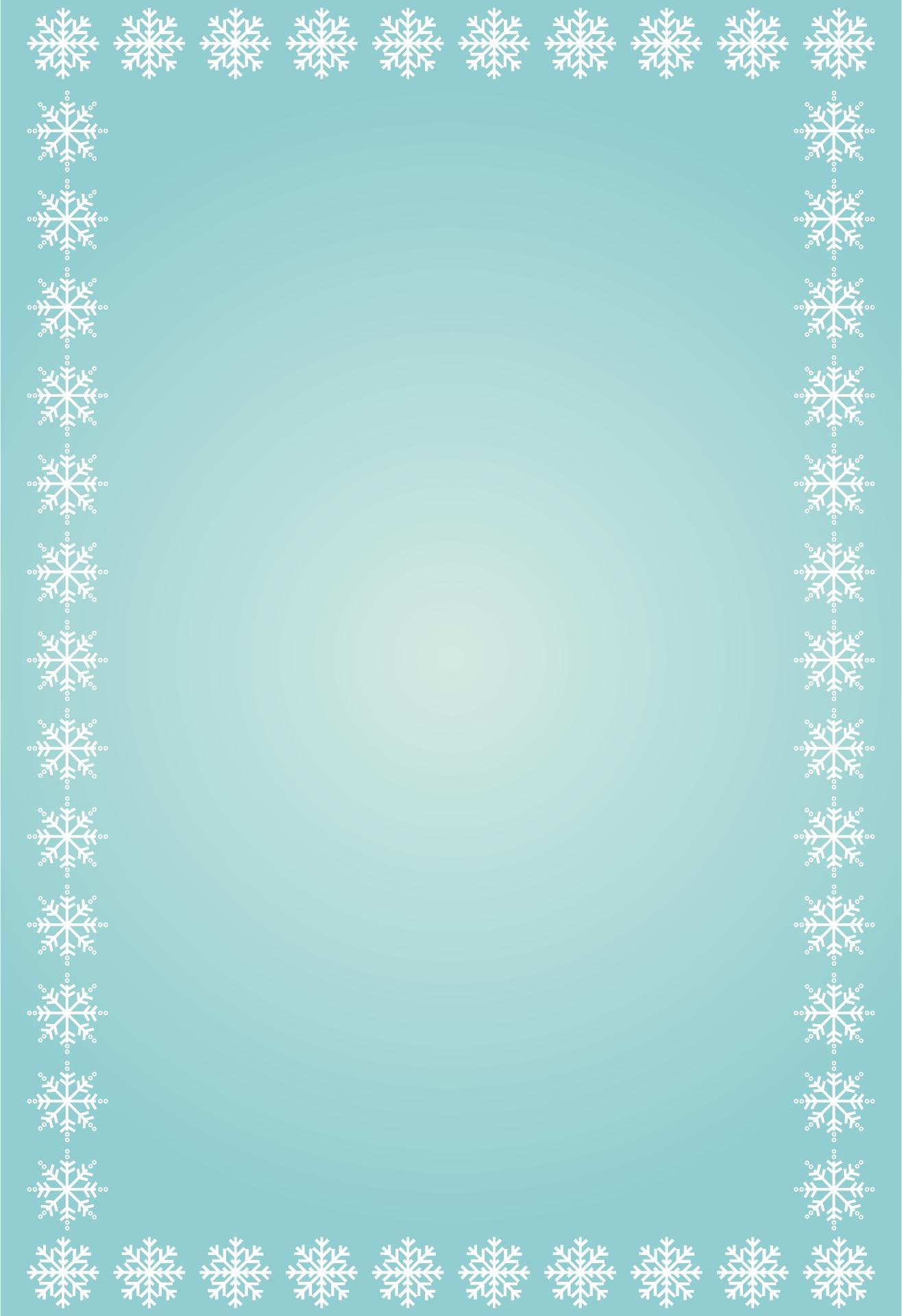 Snowflake Border Paper
