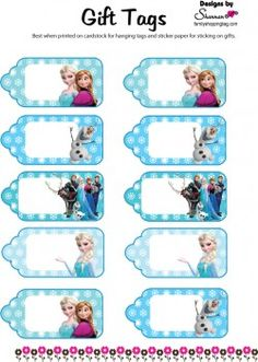 9 Images of Disney Frozen Printable Tag