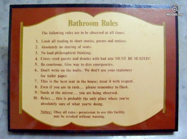 Funny Bathroom Etiquette Rules