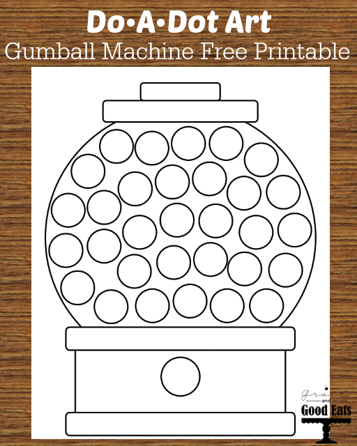 6 Images of Printable Gumball Machine Dot Art