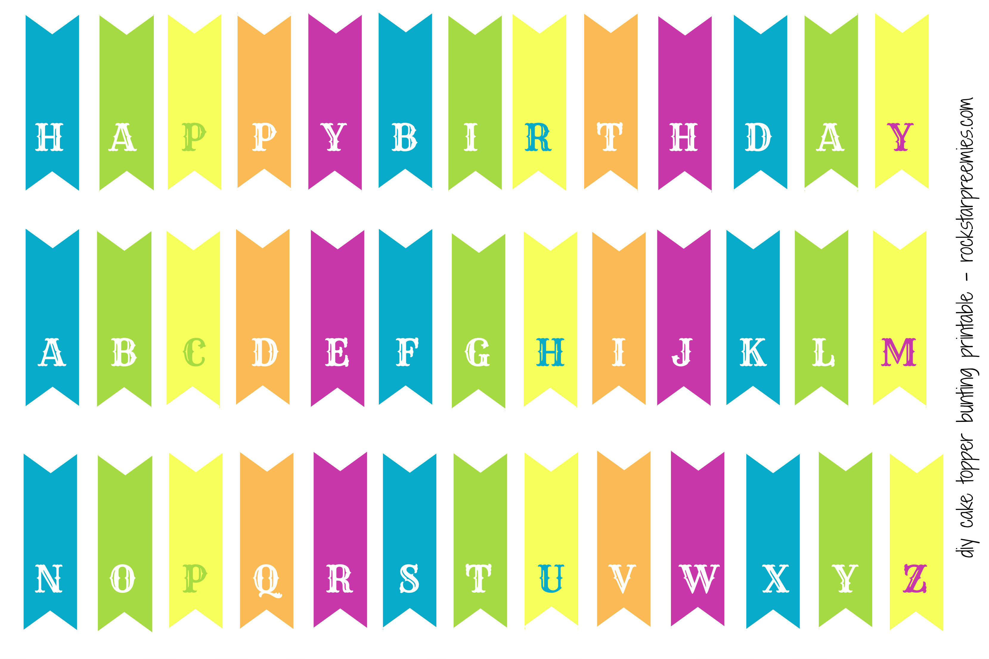 5 best images of printable birthday banner cake topper happy on cake happy birthday banner
