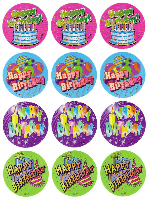 Happy Birthday Stickers Free