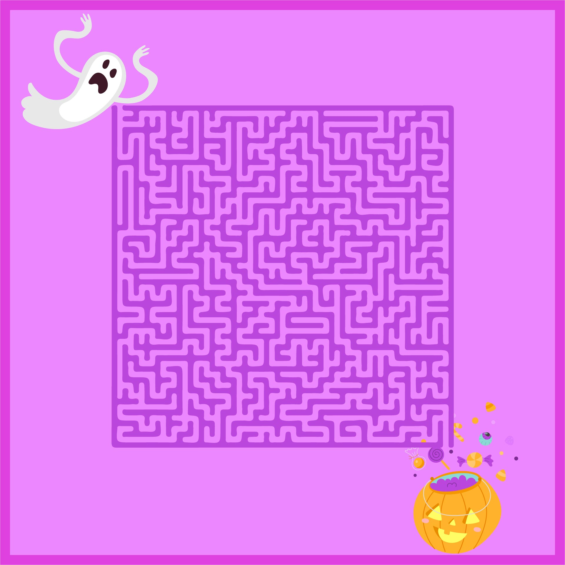 Hard Halloween Mazes