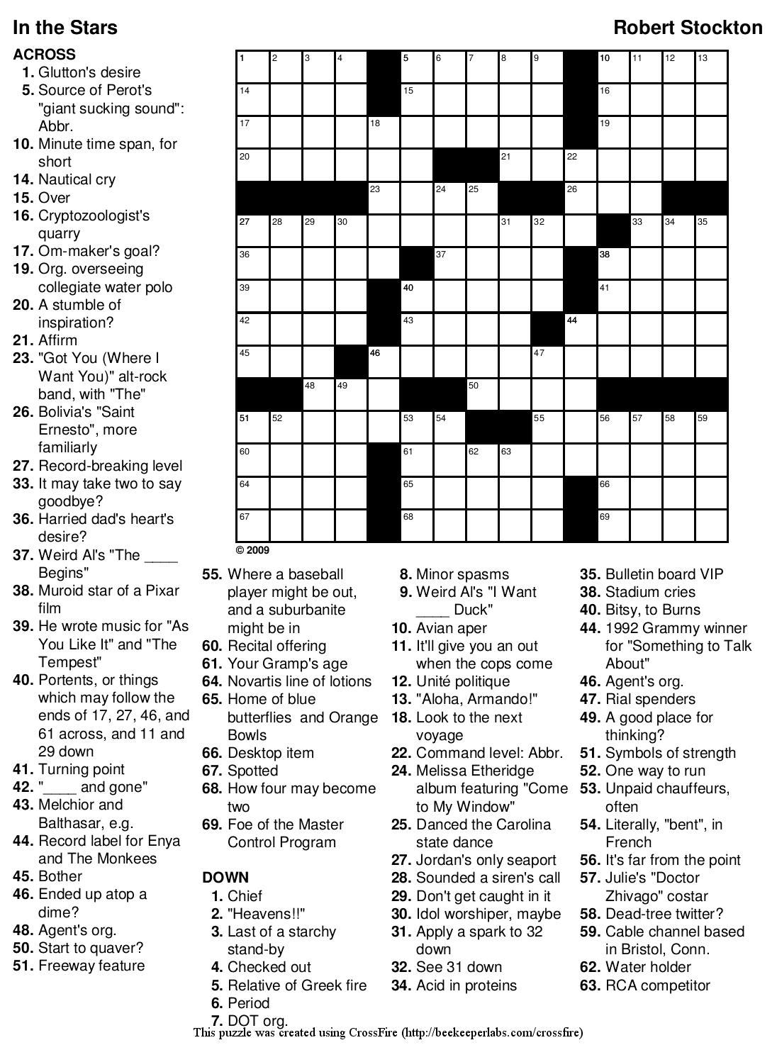 Change Letter Spacing Crossword