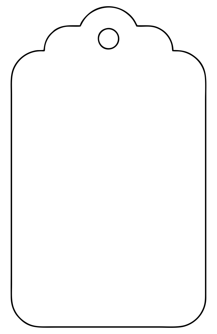 Large Gift Tag Template