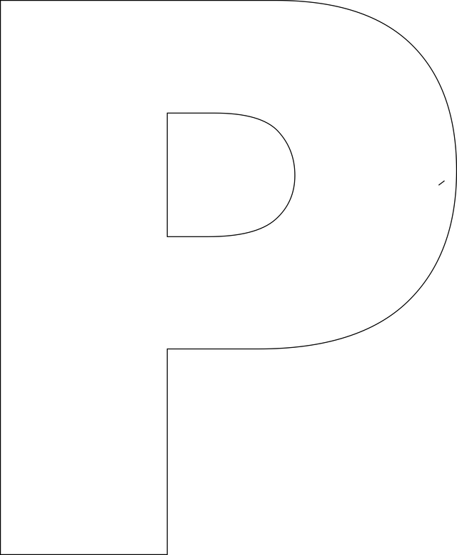 Large Printable Alphabet Letter P Template
