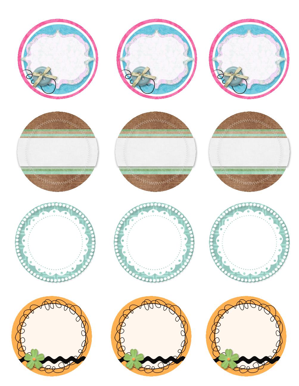 4 Images of Mason Jar Lid Labels Printable Free