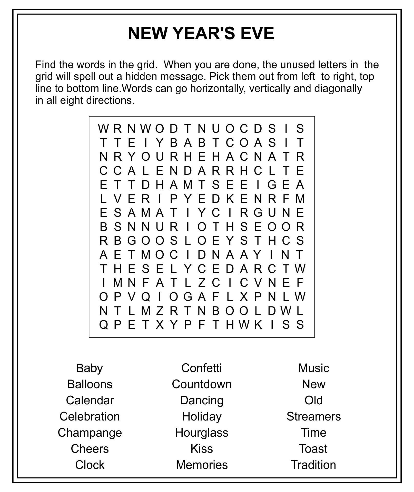 7 Images of Free New Year's Printable Word Search Games