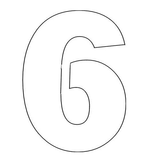 5 Best Images of Printable Coloring Numbers 6 - Number 6 Coloring ...