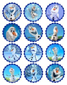 6 Images of Frozen Cake Circle Printables