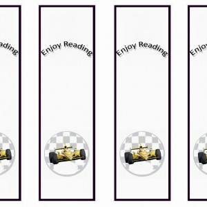5 Images of Printable Cars Bookmarks