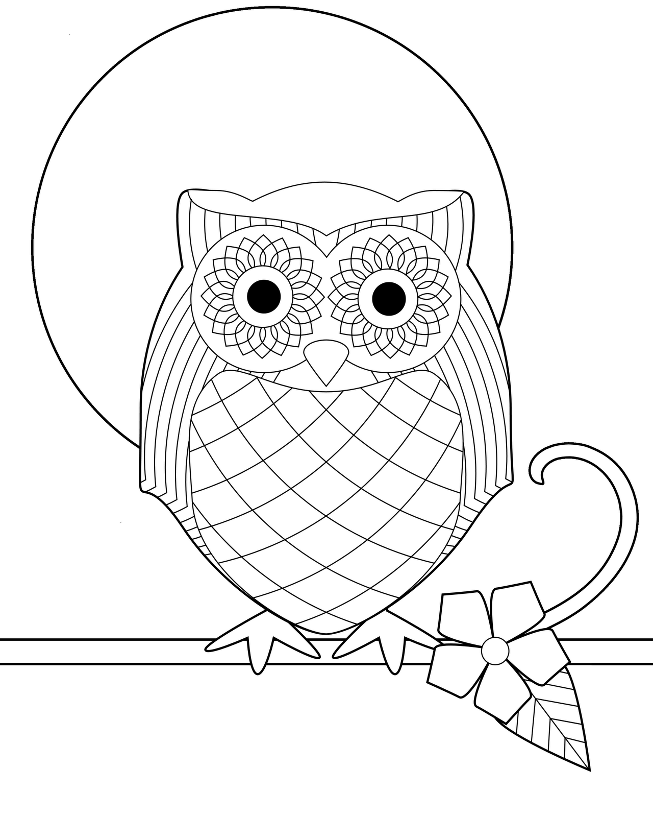 4 Images of Free Printable Owl Coloring Pages Adult