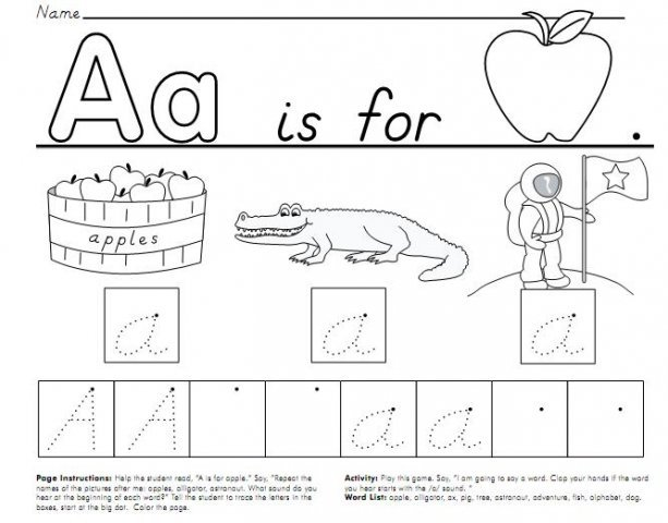 8 Images of Starfall Letter A Worksheet Printable