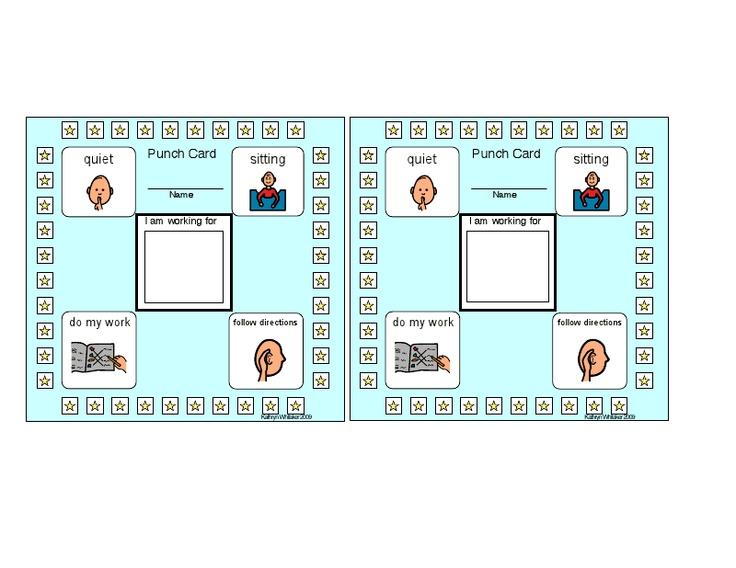 8 best images of printable behavior cards behavior punch card template good behavior punch. Black Bedroom Furniture Sets. Home Design Ideas