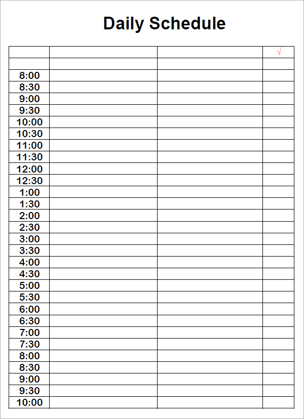 daily docket template