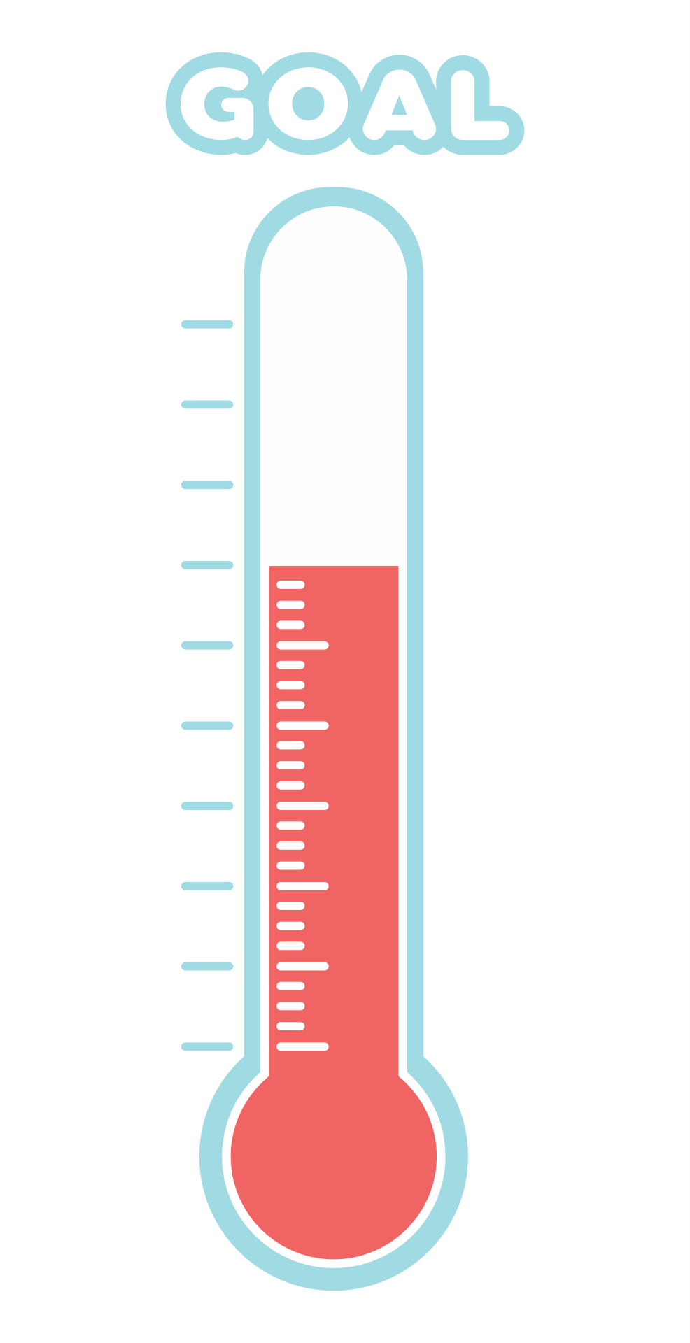 Printable Blank Goal Thermometer Template