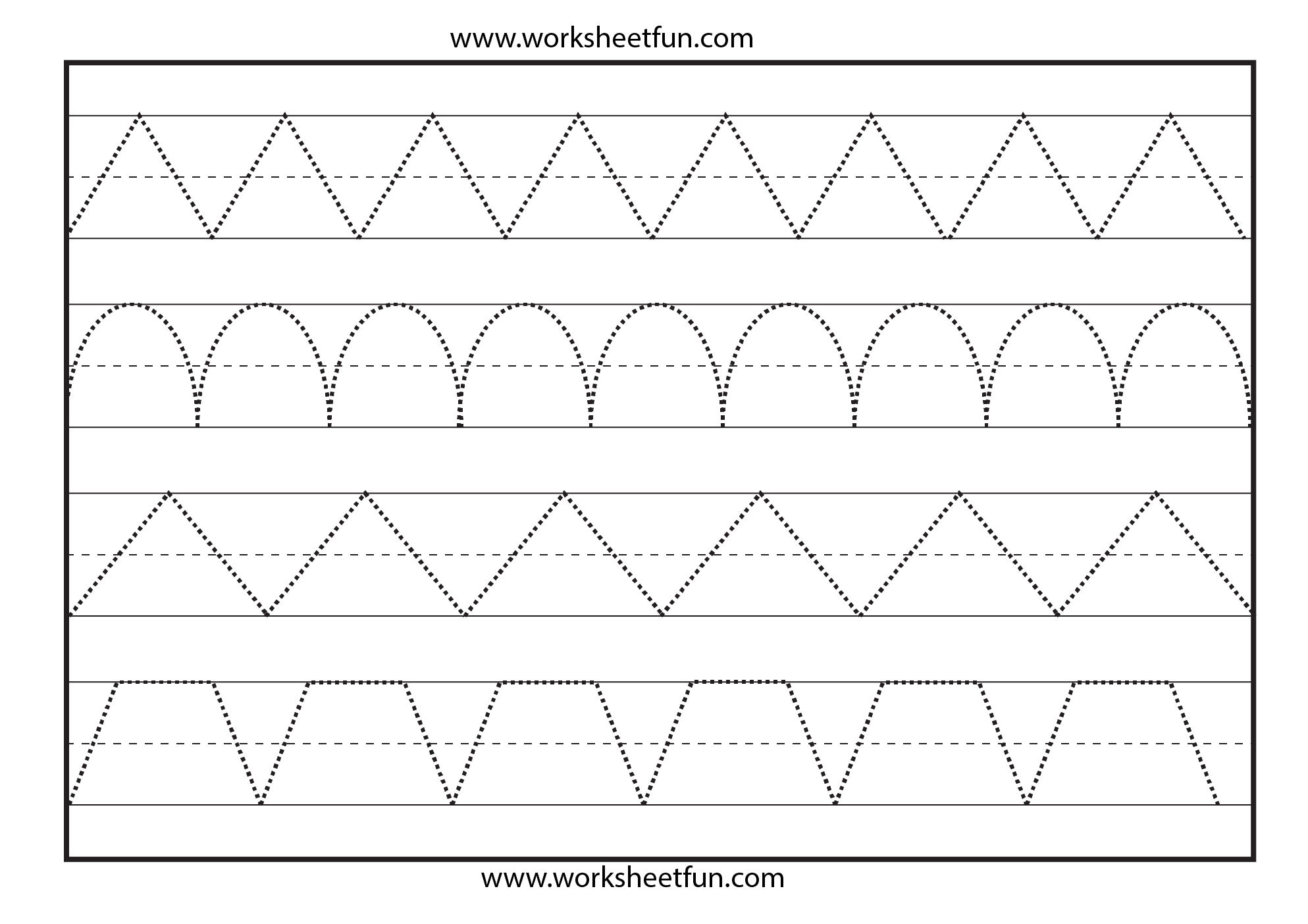 6 Images of Printable Preschool Tracing Lines Sheets