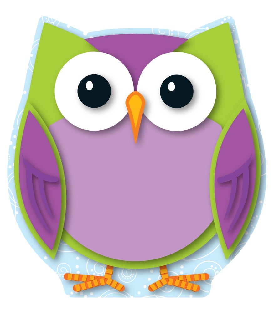 6 Images of Colorful Owl Cutouts Printable