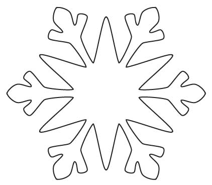 4 Images of Snow Flakes Printable Writing Templates