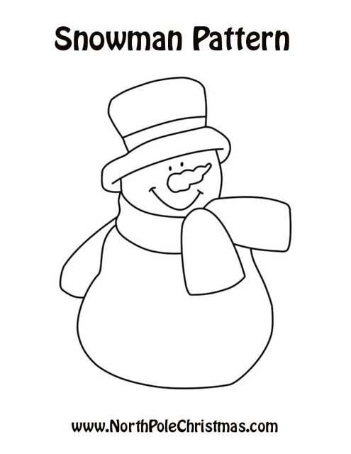 6 Images of Free Printable Snowmen Patterns