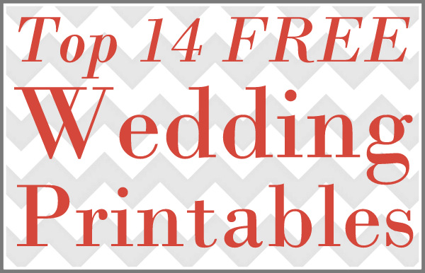 Printable Wedding Monogram Templates