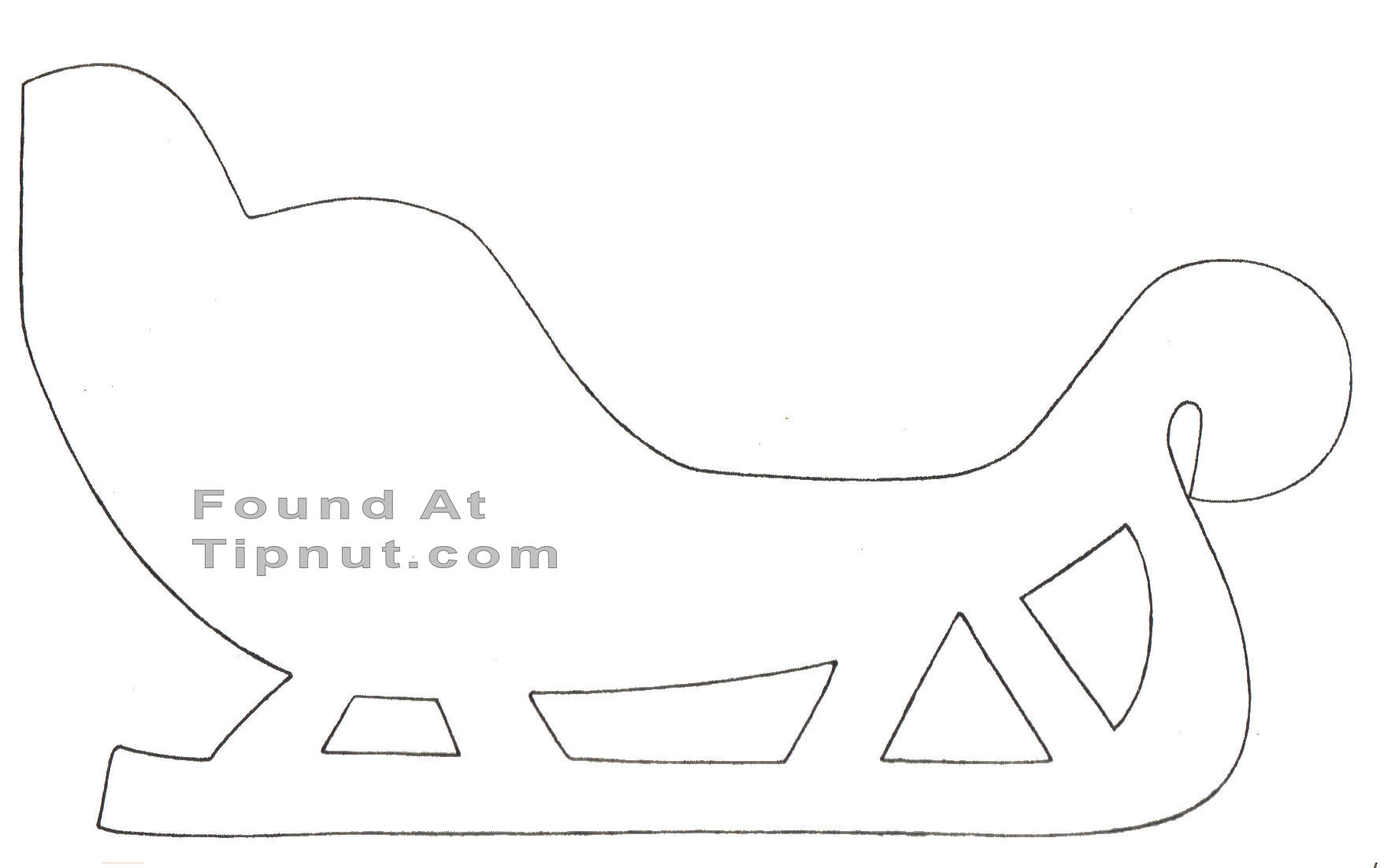 6 Images of Sleigh Cut Out Printable Templates