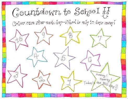 6 Images of School Countdown Calendar Printable