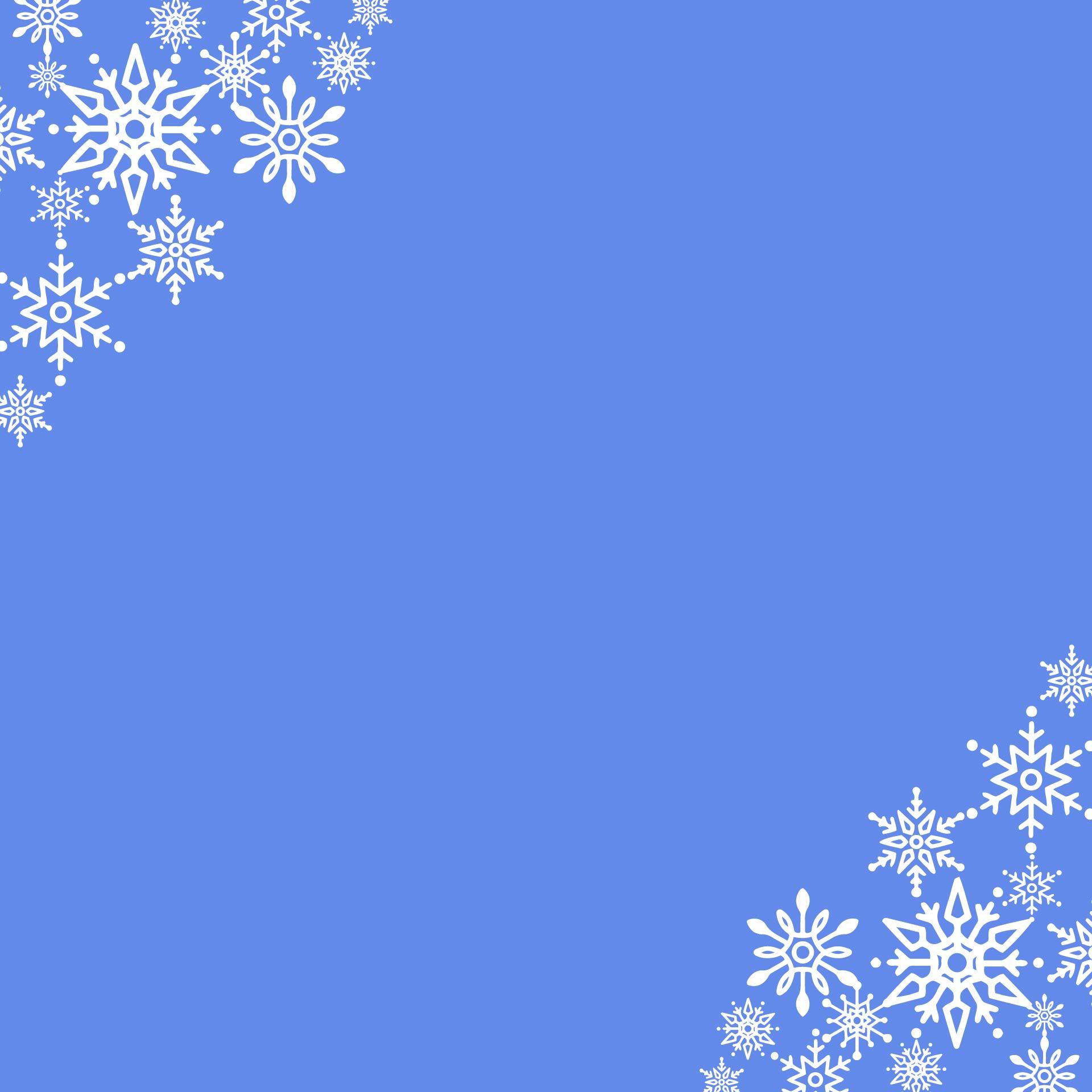 Snowflake Border Writing Paper
